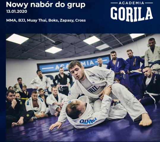 Nowy Nabór Academia Gorila 2020!